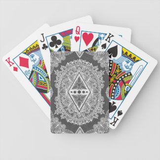 Gray, Age of awakening, bohemian, newage Bicycle Playing Cards