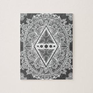 Gray, Age of awakening, bohemian, newage Jigsaw Puzzle