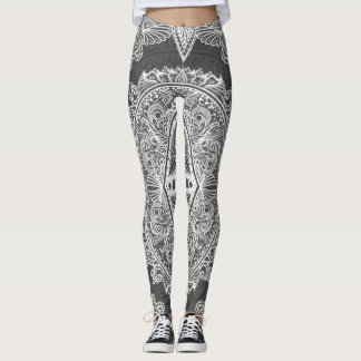 Gray, Age of awakening, bohemian, newage Leggings