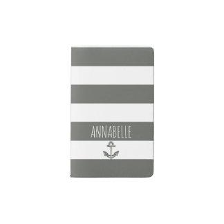 Gray Anchors Away Pocket Moleskine Notebook