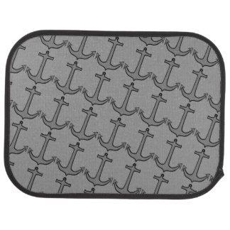 Gray Anchors on Gray Rear Car Mat