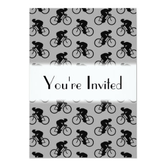 Gray and Black Bicycle Pattern. Card
