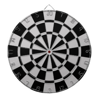 Gray And Black Dartboard With Darts