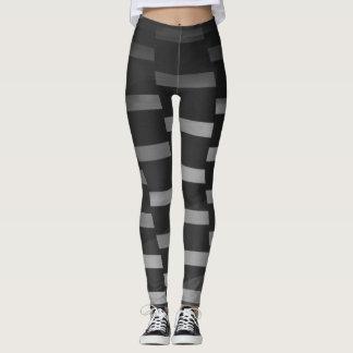 Gray and Black Geometric - Leggings