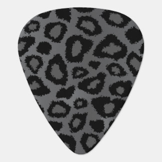 Gray And Black Leopard Pattern Guitar Pick