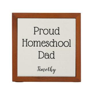Gray and Black Proud Homeschool Dad Desk Organizer