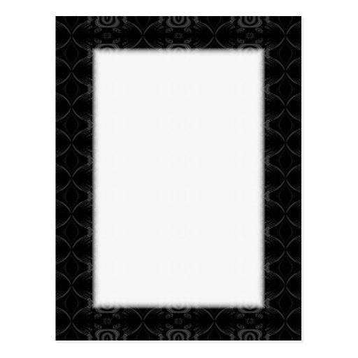 Gray and Black Stylish Flower Pattern. Post Cards