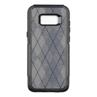 Gray and Blue Argyle Pattern OtterBox Commuter Samsung Galaxy S8+ Case