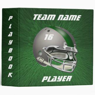 Gray and Dark Green Football Helmet Vinyl Binder
