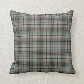 Gray and Green Clan Craig Scottish Plaid Throw Pillow