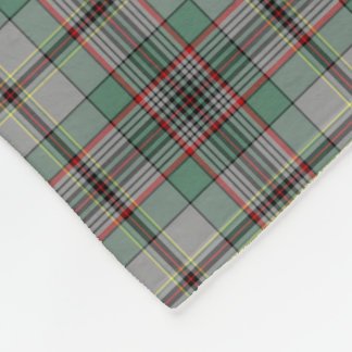 Gray and Green Craig Clan Tartan Fleece Blanket