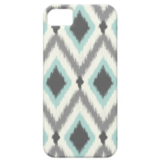 Gray and Mint Tribal Ikat Chevron Case For The iPhone 5