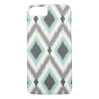 Gray and Mint Tribal Ikat Chevron iPhone 7 Case