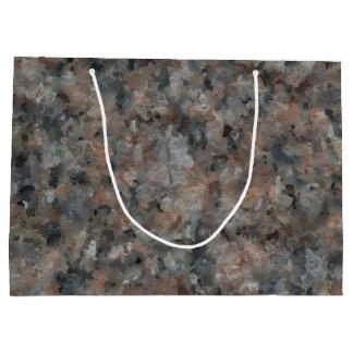 Gray and Pink Granite 4629 Large Gift Bag
