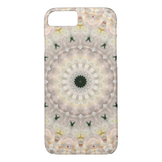 Gray and Pink Peony Floral Mandala iPhone 8/7 Case