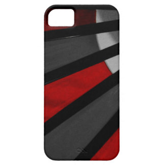 Gray and Red Fan Close Up iPhone 5 Cases