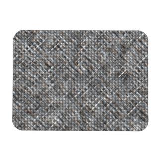 Gray and Tan Fabric Rectangular Photo Magnet