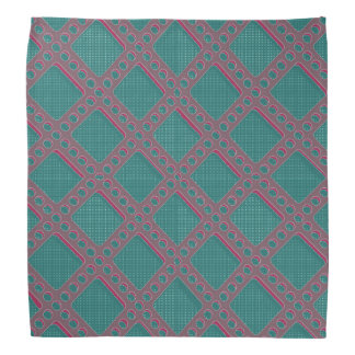 Gray and Teal Perforated Plate Bandana