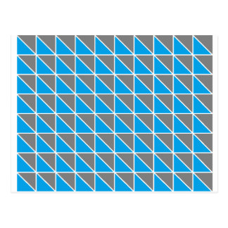 Gray and Turquoise Triangles Postcard