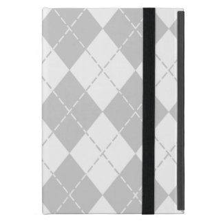 Gray and White Argyle iPad Mini Folio Case-2 iPad Mini Case