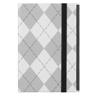 Gray and White Argyle iPad Mini Folio Case iPad Mini Case