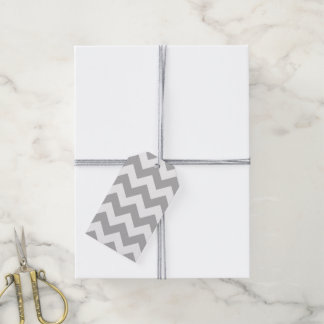 Gray and White Chevron Gift Tags