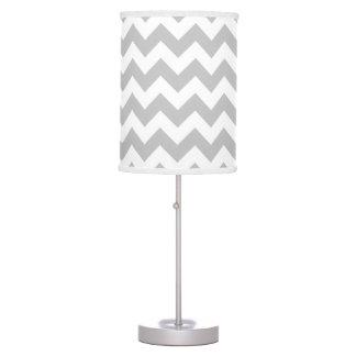 Gray and White Chevron Lamp