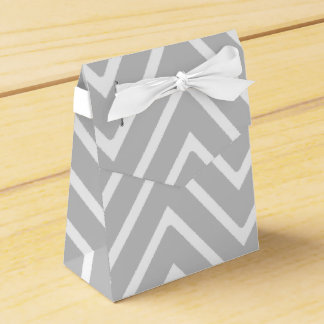 Gray and White Chevron Pattern 2 Party Favor Boxes