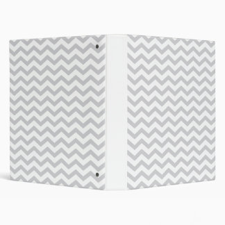 Gray And White Chevron Print Vinyl Binder