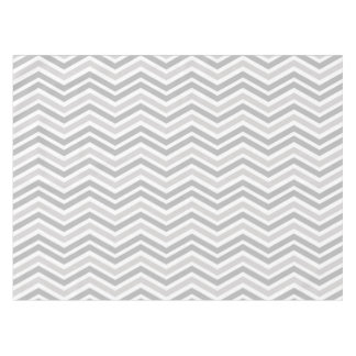 Gray and White Chevron Stripe Tablecloth
