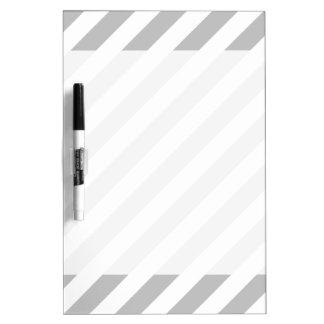Gray and White Diagonal Stripes Pattern Dry-Erase Whiteboards