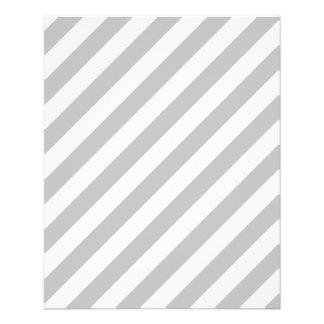 Gray and White Diagonal Stripes Pattern Flyer