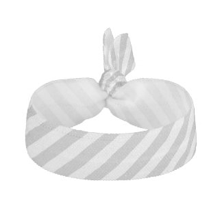 Gray and White Diagonal Stripes Pattern Hair Tie