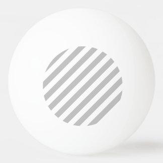 Gray and White Diagonal Stripes Pattern Ping Pong Ball