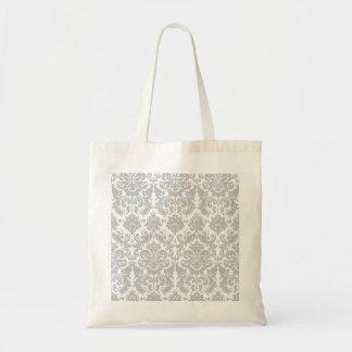 Gray and White Elegant Damask Pattern