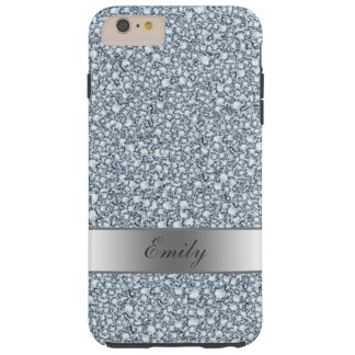 Gray And White Encrusted Diamonds Glitter Pattern Tough iPhone 6 Plus Case