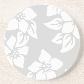 Gray and White Floral Coasters