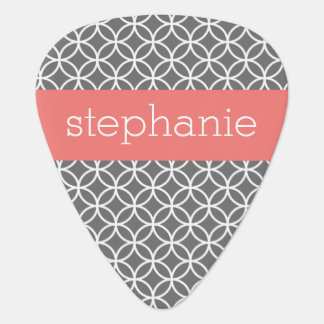 Gray and White Geometric Pattern Custom Name Pick