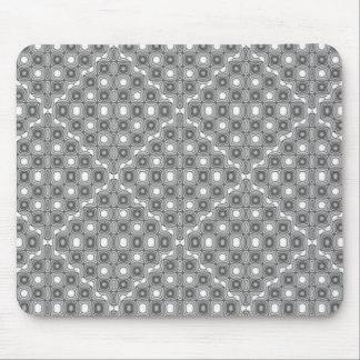 Gray and white geometric pattern mouse pad