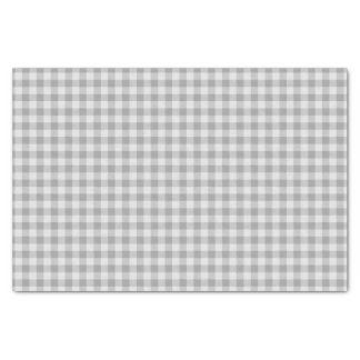 Gray and white Gingham plaid Tissue Paper