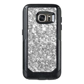Gray And White Glitter Texture OtterBox Samsung Galaxy S7 Case
