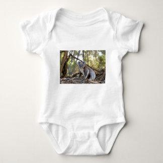 Gray and White Koala Bear Baby Bodysuit