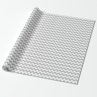 Gray and White Medium Chevron Wrapping Paper