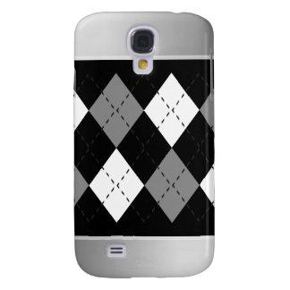 Gray And White On Black Argyle iPhone3 Case