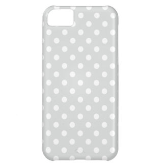 Gray and White Polka Dots Pattern iPhone 5C Cover