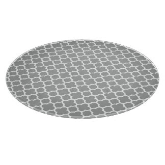 Gray and White Quatrefoil Cutting Boards