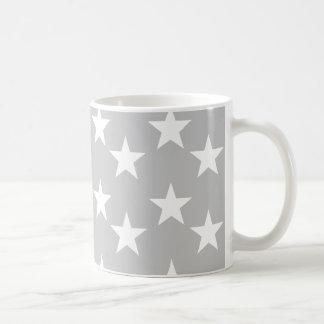 Gray and White Star Pattern Mug