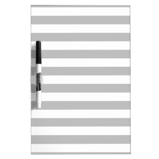 Gray and White Stripe Pattern Dry Erase Boards