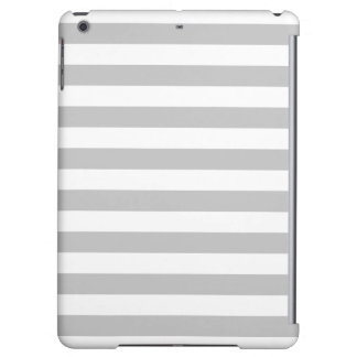 Gray and White Stripe Pattern iPad Air Cases