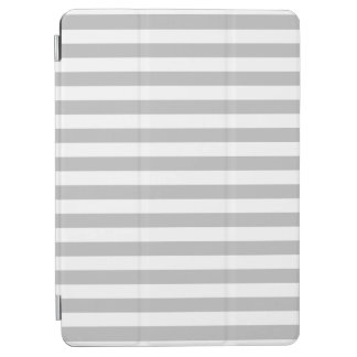 Gray and White Stripe Pattern iPad Air Cover